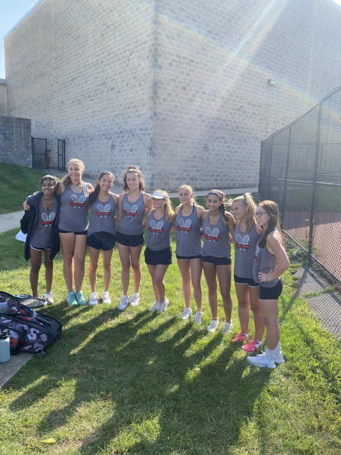Centrals girls varsity tennis team